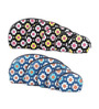 Uberlyfe Women's Multipurpose with Floral Print Leather Black & Blue Pouch - Set of 10