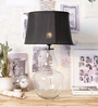 Ujjala Black Cotton Table Lamp