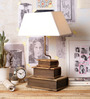 Ujjala Off White Cotton Table Lamp
