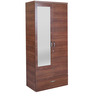 Ultima Two Door Wardrobe with Mirror in walnut Colour by HomeTown