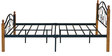Umame Queen Size Metal Bed with Wooden Post in Black and Oak Finish by Mintwud