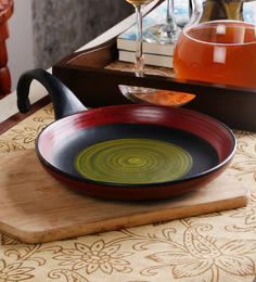 Unravel India Studio Ceramic Pizza Pan Server