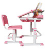 Universal Study Table Set in Pink and White Colour by Alex Daisy