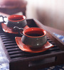 Unravel India 150 ML Cups & Saucers Set -Set of 6