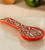 Unravel India Moroccan Hand Painted Stoneware Spoon Rest