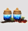 Untold Homes Ceramic 200ML Artsy Pickle Barni Jar - Set of 2