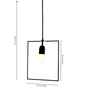 Untold Homes Black Metal Pendant