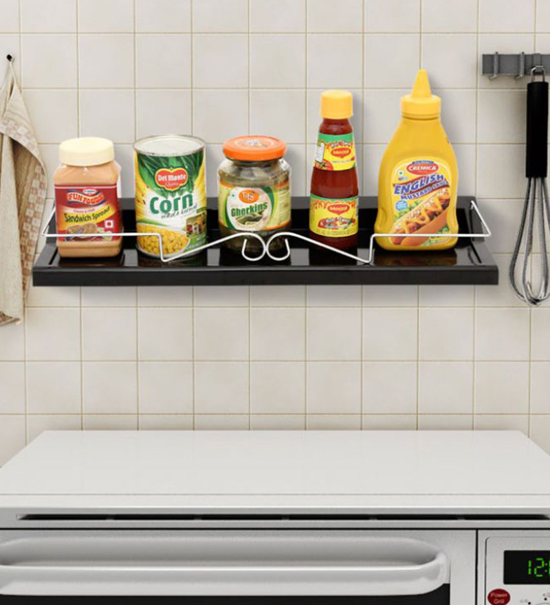 shelf black colour by upasana online kitchen organisers kitchen