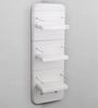 Upasana White ABS Plastic Bathroom Cabinet