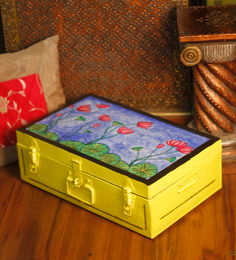 Uru Products Multicolor Metal Hand-painted Trunk