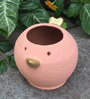 Uru Products Handpainted Bird Planter in Pink