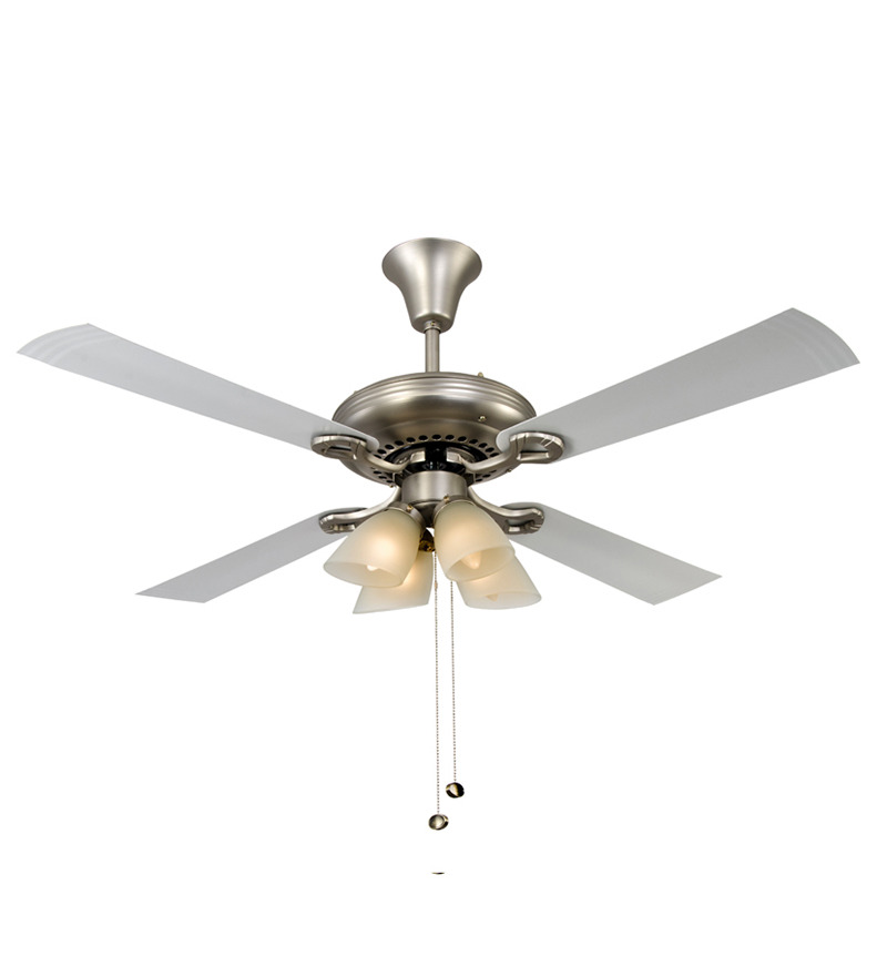 Usha Fontana White Chrome Ceiling Fan with Light  available at Pepperfry for Rs.5939