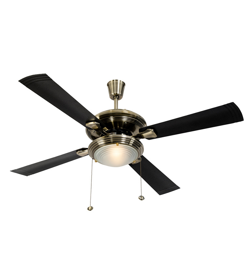 Usha Fontana One Antique Brass Ceiling Fan with Light  available at Pepperfry for Rs.6179