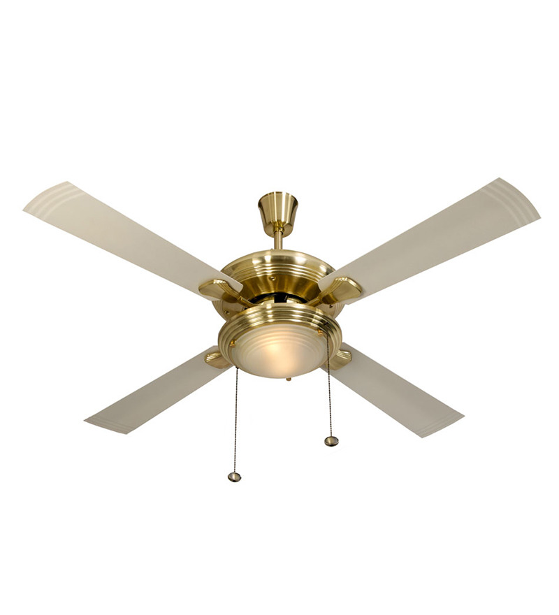 Usha Fontana One Gold Ivory Ceiling Fan with Light  available at Pepperfry for Rs.6149