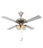 Usha Fontana White Chrome Ceiling Fan with Light