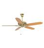 Usha Hunter Savoy Bright Brass Ceiling Fan with Five Blades
