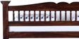 Uttara Handcrafted King Size Bed in Provincial Teak Finish by Mudramark