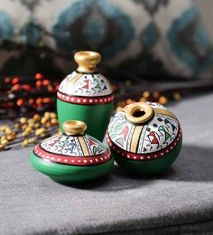 VarEesha Multicolour Terracotta Warli Miniature Showpieces