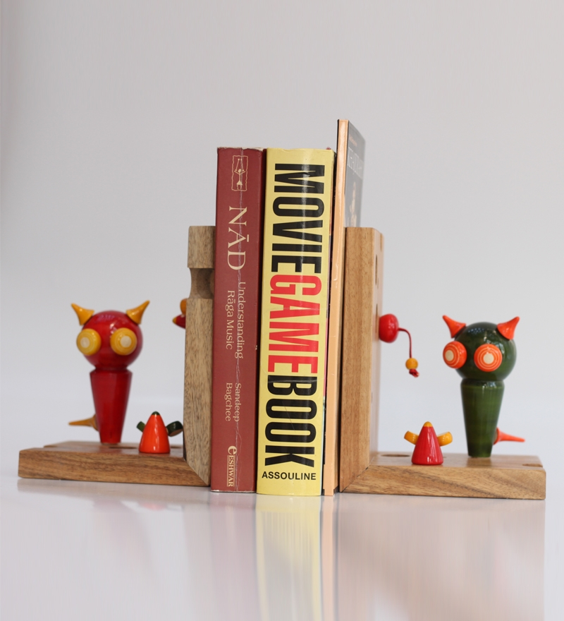 Decorative Wall Shelves For Cats : Varnam a pair of cat n mouse book ends by