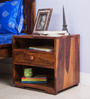 Winona Bed Side Table in Honey Oak Finish by Woodsworth