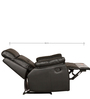 Valmont One Seater Half Leather Recliner in Black Colour by HomeTown