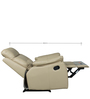 Valmont One Seater Half Leather Recliner in Taupe Colour by HomeTown