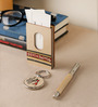 VarEesha Beige Mdf Hand Painted Desk Stationery Set