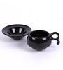 VarEesha Black Ceramic 100 ML 12-piece Cup and Saucer Set