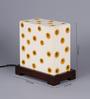 VarEesha Cream Fabric Desk Lamp