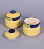 VarEesha Multicolour Cylindrical 250 ML Pickle Jar - Set of 2