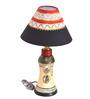 VarEesha Multicolour Terracotta & Fabric Table Lamp