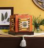 VarEesha Orange Wood Desk Lamp