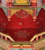 Vareesha Red Wooden Rajasthani Hand Made Home Temple