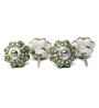 Variety Arts Diamond Green Ceramic Door Knobs - Set Of 4