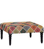 Varnaka Kilim Coffee Table in Espresso Walnut by Mudramark