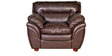 Vega Leatherette One Seater Sofa in Rust Colour by HomeTown