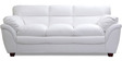 Vega Leatherette Three Seater Sofa in White Colour by HomeTown