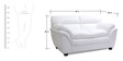 Vega Leatherette Two Seater Sofa in White Colour by HomeTown