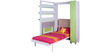 Vertical Single Bed And Study Table Set by SpaceOne