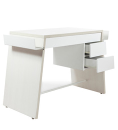 Vector Study Table in White and Pine Colour by HomeTown