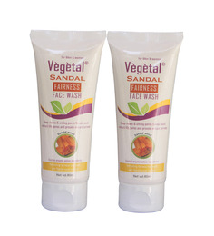 Vegetal Sandal Fairness Face Wash-Pack of 2