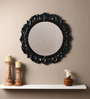 Cromwell Decorative Mirror in Black by Amberville