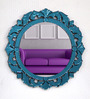 Blois Decorative Mirror in Blue by Amberville