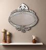 Christie Decorative Mirror in Silver by Amberville