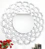 Dispatch Decorative Mirror in Silver by Bohemiana