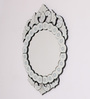 Clevedon Decorative Mirror in Silver by Amberville
