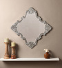 Clayton Decorative Mirror in Silver by Amberville