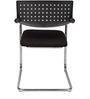 Elegantly Designed Black VisitorChair by Ventura
