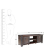 Venus Solidwood TV Cabinet in Brown Colour by HomeTown