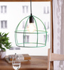 Verona Cage Pendant in Green by Bohemiana